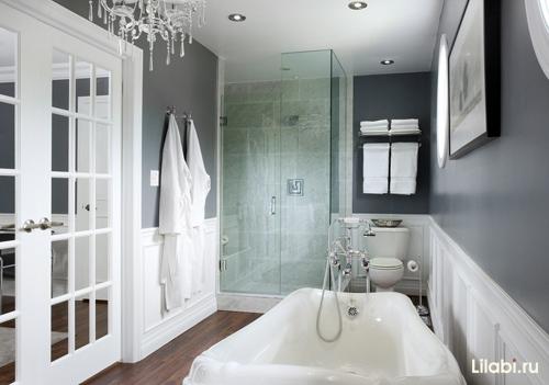 Ванная комната дизайн серая
