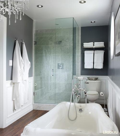 Маленькая ванная комната красный дизайн