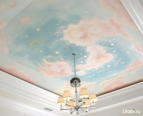 Как обустроить детскую комнату. Звездное небо в детской комнате, декор потолка