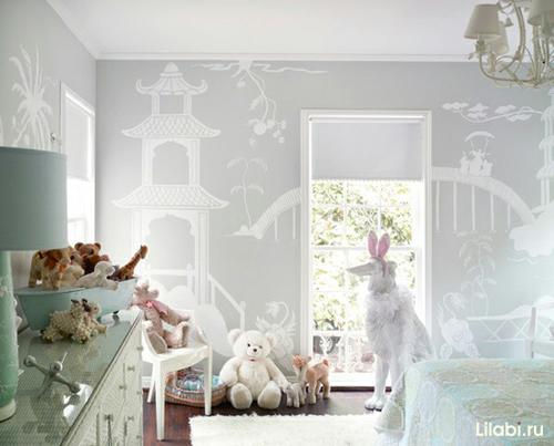 Как обустроить детскую комнату. Рисунки на стенах в детской комнате