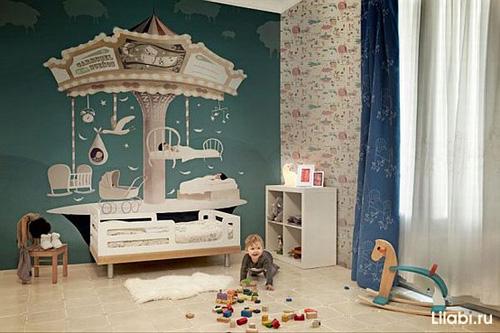 Как обустроить детскую комнату. Фрески в интерьере детской