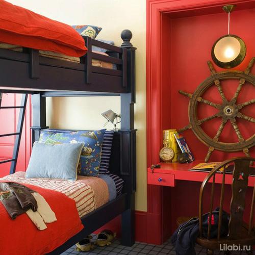 Дизайн детской комнаты в морской тематике для мальчиков