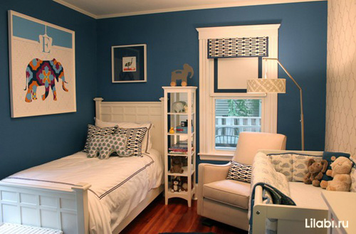 Дизайн детской комнаты для новорожденного мальчика и мамы