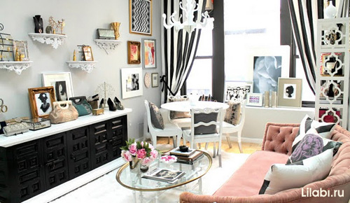 Стильный интерьер комнаты для девушки