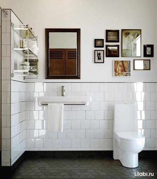 Фото интерьера ванной и туалета в