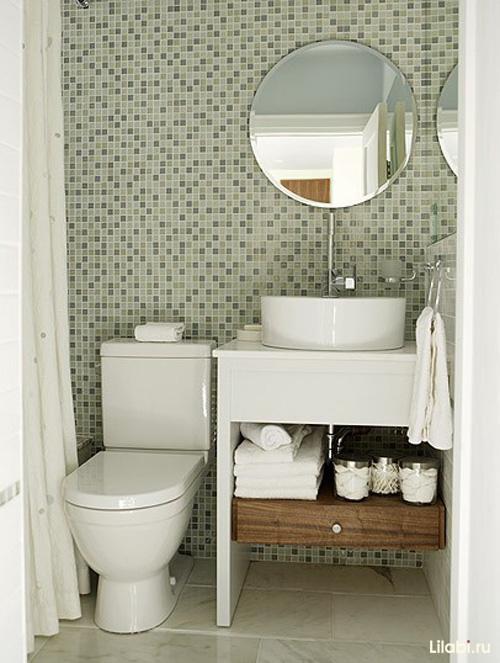 Отделка ванной комнаты плиткой мозаикой фото