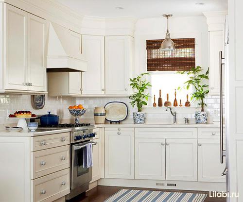 Угловая кухня. Г-образная кухня фото