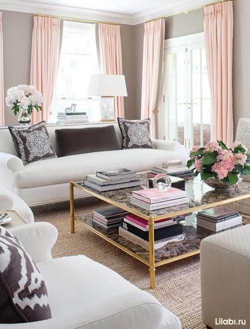 Красивый дизайн интерьера гостиной