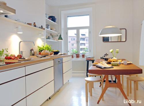 Дизайн интерьера кухни 12 кв м фото в скандинавском стиле