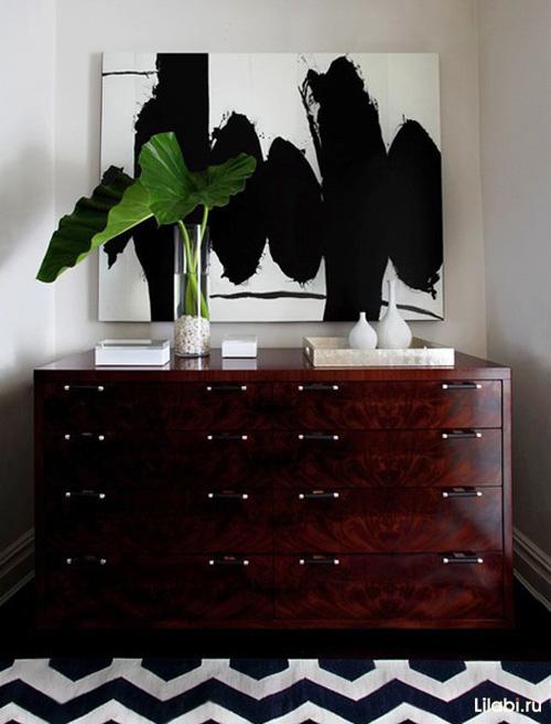 Темная мебель в интерьере