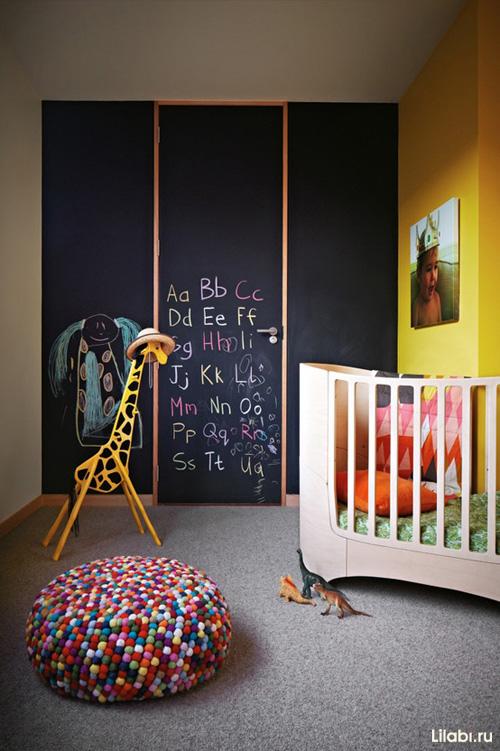 Черный цвет в интерьере детской