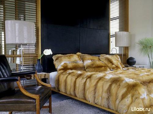 Черный цвет в интерьере спальни фото