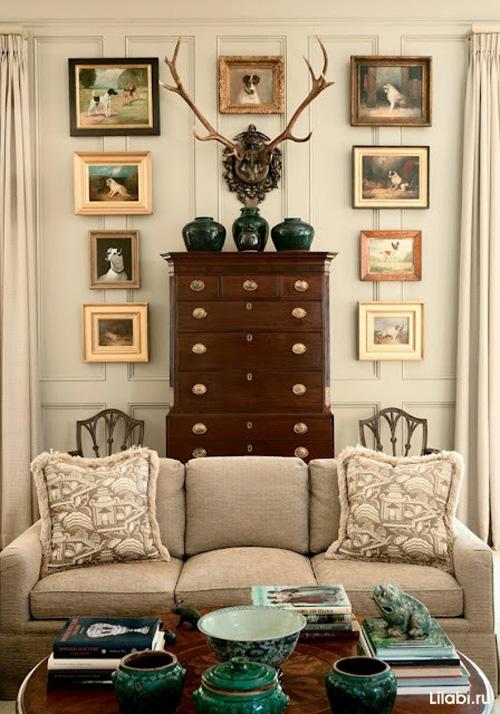 Галерея картин в интерьере дома