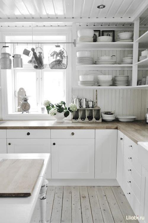 Угловая белая кухня дизайн кухни белого цвета