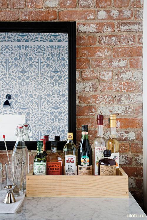 Кирпичная стена в стиле лофт
