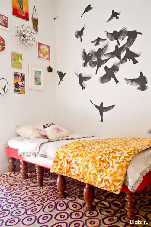 Украшение стен в квартире виниловыми наклейками своими руками