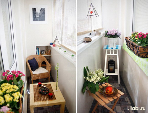 Как сделать маленькую лоджию уютной