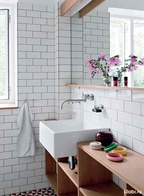 White bathroom tile ideas
