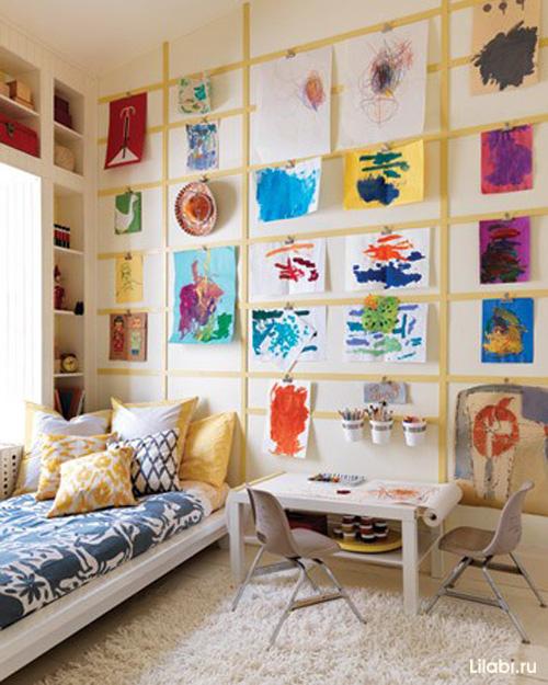 Интерьер детской комнаты своими руками рисунки